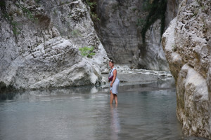 Einsames Canyoning